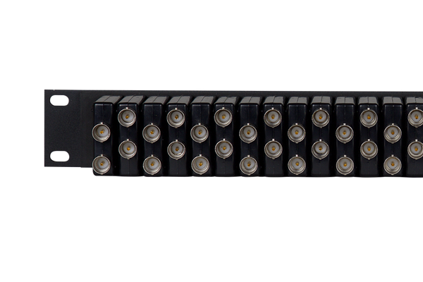 Coaxial Unbalanced Audio Patchbay, 2x32, 1 RU
