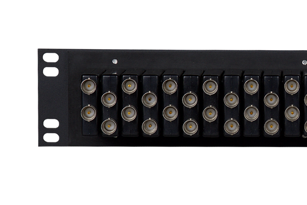 Coaxial Unbalanced Audio Patchbay, 2x32, 1.5 RU