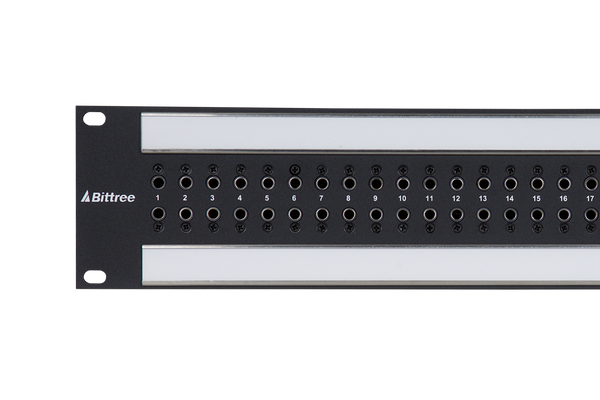 Coaxial Unbalanced Audio Patchbay, 2x32, 2 RU