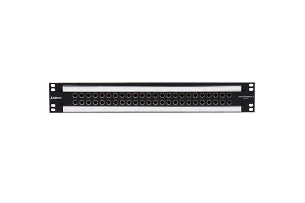 Patchbay - Audio 1/4 Inch Long-Frame Front Programmable Patchbay, 489-S Series, 2X24, 1.5 RU, E90 Rear Interface