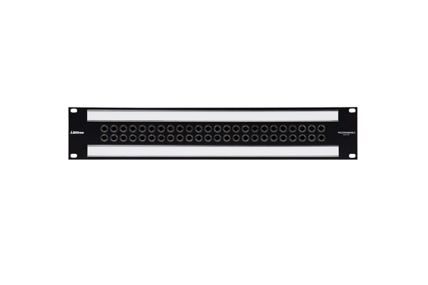 Patchbay - Audio 1/4 Inch Long-Frame Front Programmable Patchbay, 489-S Series, 2X24, 2 RU, ID Rear Interface