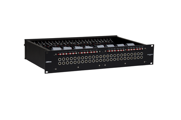 Patchbay - Audio 1/4 Inch Long-Frame Front Programmable Patchbay, 489-A Series, 2X24, 2 RU, ID Rear Interface