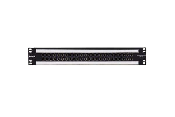 Patchbay - Audio 1/4 Inch Long-Frame Front Programmable Patchbay, 489-A Series, 2X24, 1.5 RU, ID Rear Interface
