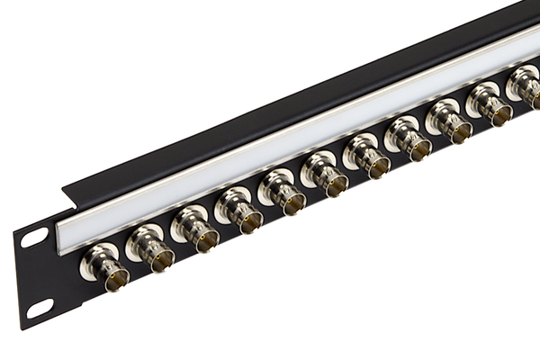 BNC Coaxial Bulkhead Patch Panel, 1x24, 1 RU