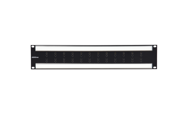 Internally Programmable RS-422 Patchbay, 2x12, 2 RU, DE-9 Rear Interface