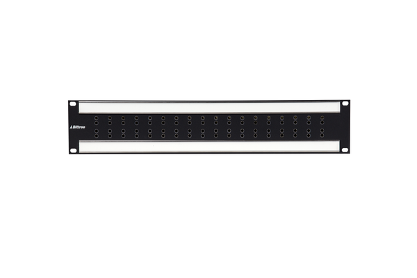 Internally Programmable RS-422 Patchbay, 2x18, 2 RU, DE-9 Rear Interface