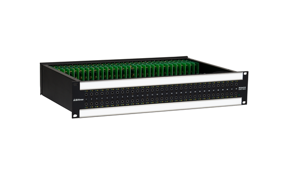 Active RS-422 Patchbay, 2x32, 2 RU, DE-9 Rear Interface