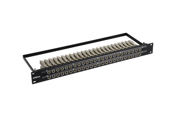 Patchbay - Audio 1/4 Inch Long-Frame Non-Programmable 481 Series Solder Style Patchbay, 2x24, 1RU, Pre-Tinned Jack Tails, 5-Lug