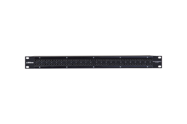 Patchbay - Audio TT (Bantam) Internally Programmable Patchbay, 968 Series, 2x48, 1 RU, E90 Rear Interface, Stereo Jack Spacing