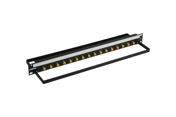 12G+ BNC Coaxial Bulkhead Patch Panel, 1x16, 1 RU