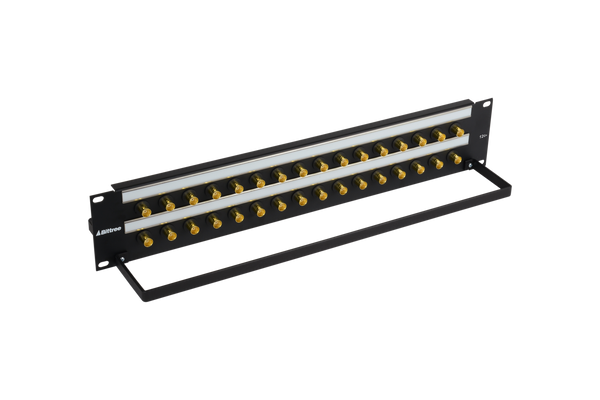 12G+ BNC Coaxial Bulkhead Patch Panel, 2x16, 2 RU