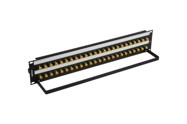 12G+ BNC Coaxial Bulkhead Patch Panel, 2x24, 2 RU
