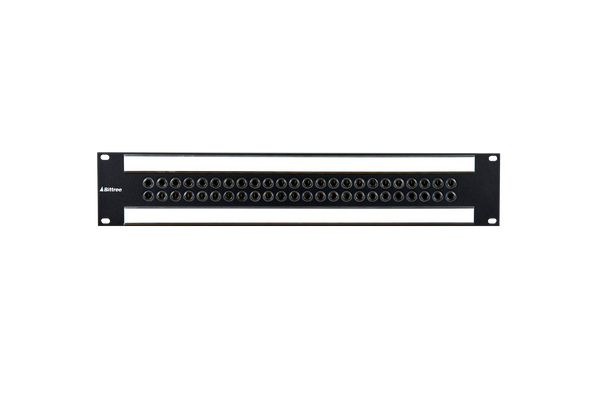 Speaker Level 1/4 Inch Long-Frame Audio Patchbay, 2 RU, Barrier Strip Rear Interface