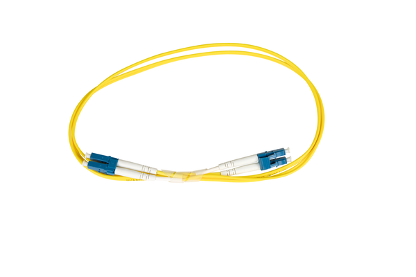 Fiber-Optic Patch Cable, LC to LC, 8.3/125um Single-Mode, OS1