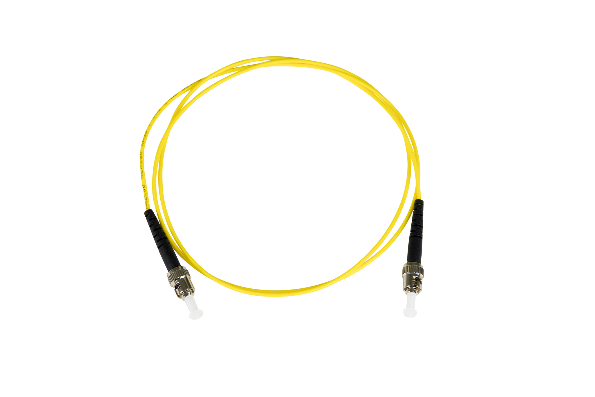 Fiber-Optic Patch Cable, ST to ST, 8 3/125um Single-Mode, OS1