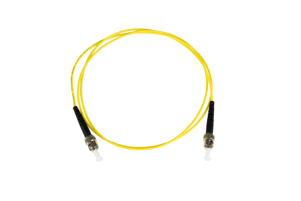 Fiber-Optic Patch Cable, ST to ST, 8.3/125um Single-Mode, OS1