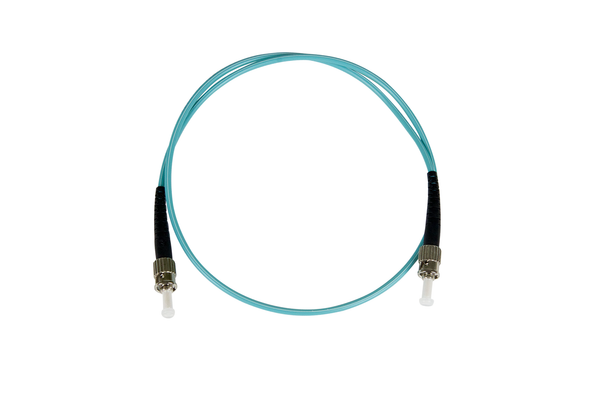 Fiber-Optic Patch Cable, ST to ST, 50/125µm Multi-Mode, Laser Optimized, OM3