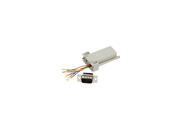 D9 Male to RJ45 Adapter