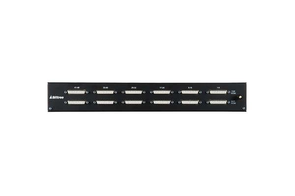 968 - 2x48 1.5RU TT Patchbay, Internally Selectable TRS Audio, Stereo Jack Spacing