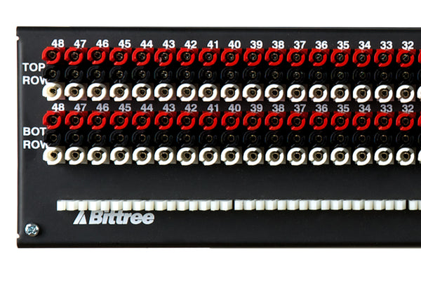 Patchbay - Audio TT (Bantam) Internally Programmable Patchbay, 968 Series, 2x48, 2 RU, ID Rear Interface, Mono (even) Jack Spacing