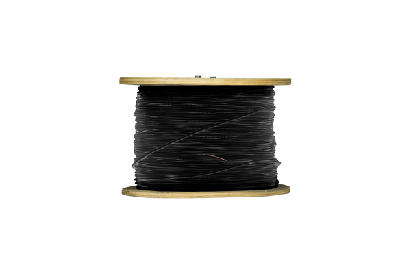 Raw Cable:  1 pair, 110 ohm, 26 AWG, digital/analog, 0.143 in. OD, Black