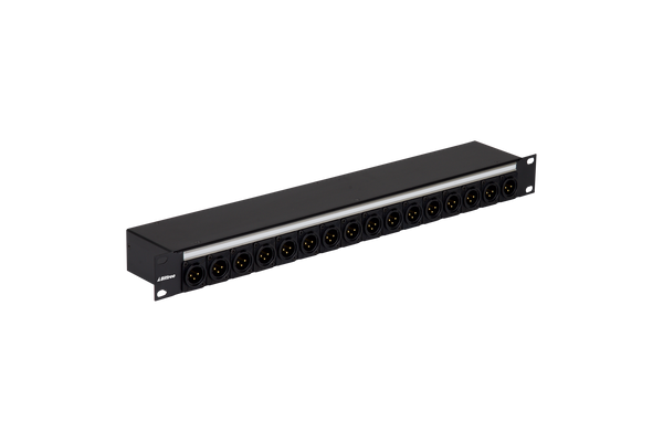 Male XLR to DB25 Bulkhead Patch Panel