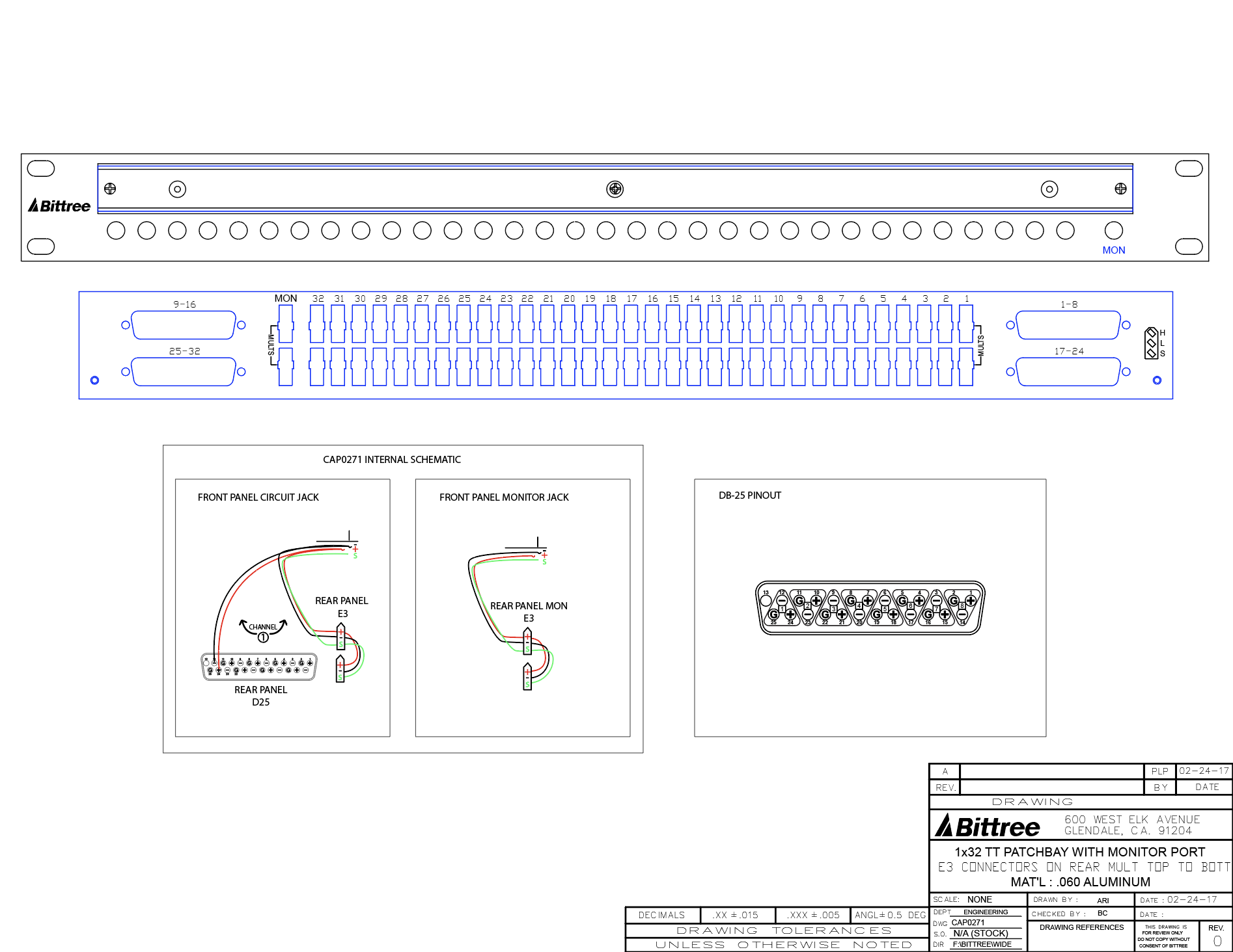 e coustics?v=1487956153 e coustic systems monitor patchbay, 1x32 1 tt (bantam), 1 ru, db25 e wes industries wiring diagram at bayanpartner.co