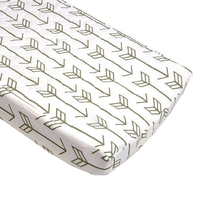 Arrows in Gray and White Quilted Changing Pad Cover