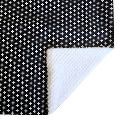 Blanket | Black Swiss Cross Black and White-Baby Blanket-Bold Bedding