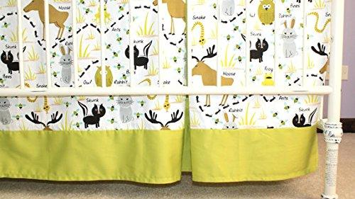 Bold Bedding Woodland Animals Tailored Crib Skirt with Pleat