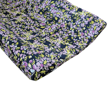 Bougainvillea Lilac and Navy Floral Changing Pad Cover - Fits Standard Contoured Changing Pads