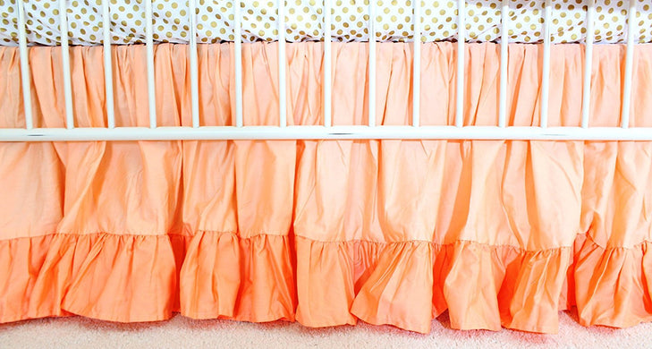 Gathered Crib Bed Skirt 18 inches drop Color: Coral Sunset & Papaya