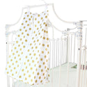 Gold Dots on White, White Edge Diaper Stacker