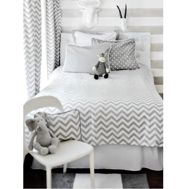 Gray Chevron Bedding   Twin, Full Or Queen