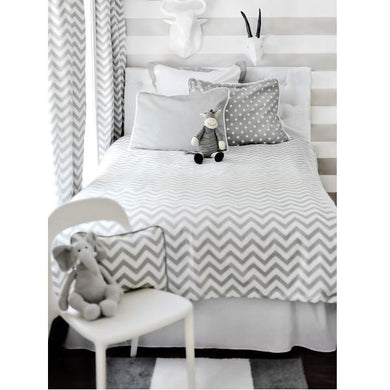 Gray Chevron Bedding - Twin, Full or Queen
