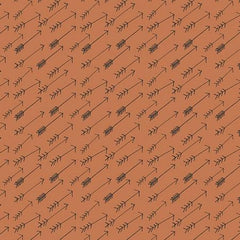 Lost Arrow in Burnt Orange Fabric by the Yard | 100% Cotton-Fabric-Bold Bedding