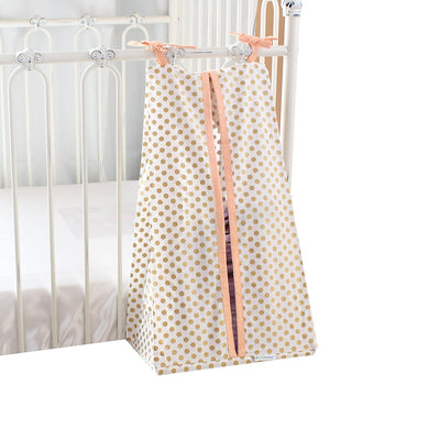 Metallic Gold Dots Diaper Stacker