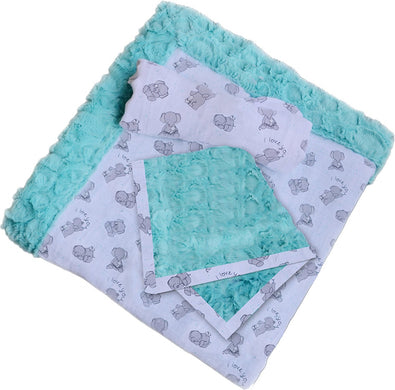 Minky Patty-Cakes Swaddle Gift Set Butter Mints Cuddle Kit Quilt Kit Shannon Fabrics