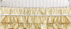 Solid 3 Tiered Ruffled Satin Crib Skirt - Fits standard cribs-Baby Product-Bold Bedding