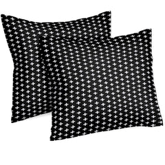 Throw Pillow | Black and White Swiss Cross-Throw Pillow-Bold Bedding