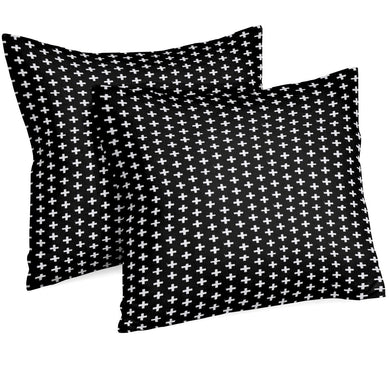 Throw Pillow | Black and White Swiss Cross