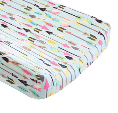 Tribal Quills and Arrows Changing Pad Cover - 100% Cotton - Fits Standard Contoured Changing Pads