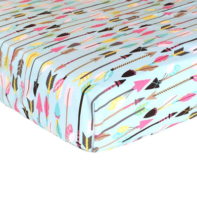 Tribal Quills and Arrows Fitted Crib Sheet