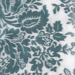 Vintage Floral Burnout in Aqua Designer Fabric by the Yard | 100% Cotton-Fabric-Bold Bedding