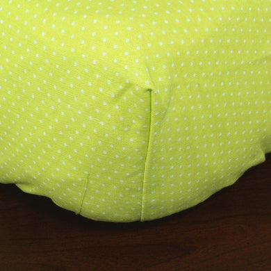 White Dots on Green 100% Cotton, Fits up to 9 Inch Mattress
