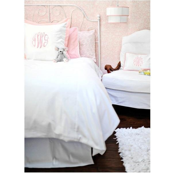 White Pique And Pink Bedding   Twin, Full Or Queen | 100% Cotton