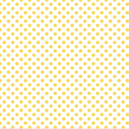 Yellow Polka Dot Fabric by the Yard | 100% Cotton