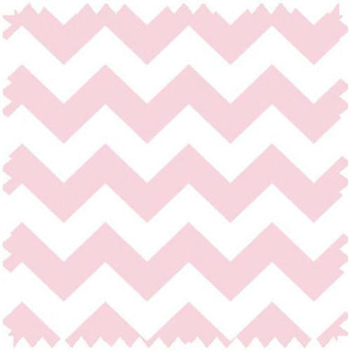 Zig Zag Baby Pink Fabric By The Yard | 100% Cotton