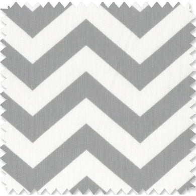 Zig Zag Grey Fabric By The Yard | 100% Cotton