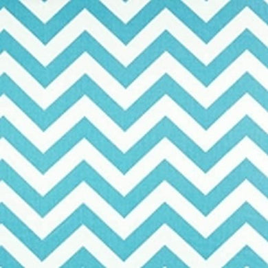 Zig Zag in Aqua Fabric by the Yard | 100% Cotton